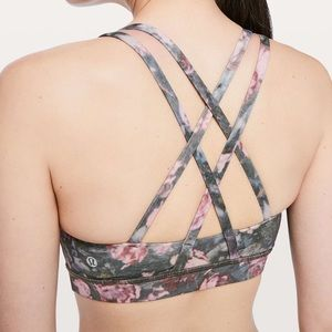 Lululemon Energy Bra Frosted Rose Multi